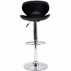 Modway Booster Faux Leather Bar Stool in Black MY-EEI-580-BLK