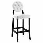 Modway Button Bar Stool in White MY-EEI-816-WHI