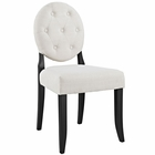 Modway Button Dining Upholstered Fabric Side Chair in Beige MY-EEI-1381-BEI