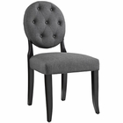 Modway Button Dining Upholstered Fabric Side Chair in Gray MY-EEI-1381-GRY