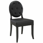 Modway Button Tufted Faux Leather Dining Side Chair in Black MY-EEI-815-BLK