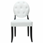 Modway Button Tufted Faux Leather Dining Side Chair in White MY-EEI-815-WHI