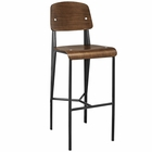 Modway Cabin Bar Stool in Walnut Black MY-EEI-1468-WAL-BLK