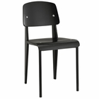 Modway Cabin Dining Wood Side Chair in Black Black MY-EEI-214-BLK-BLK