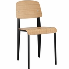 Modway Cabin Dining Wood Side Chair in Natural Black MY-EEI-214-NAT-BLK