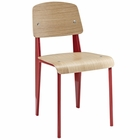 Modway Cabin Dining Wood Side Chair in Natural Red MY-EEI-214-NAT-RED
