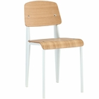 Modway Cabin Dining Wood Side Chair in Natural White MY-EEI-214-NAT-WHI