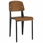Modway Cabin Dining Wood Side Chair in Walnut Black MY-EEI-214-WAL-BLK