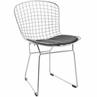Modway CAD Dining Steel Metal Side Chair in Black MY-EEI-161-BLK