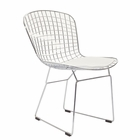 Modway CAD Dining Steel Metal Side Chair in White MY-EEI-161-WHI