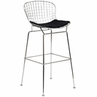 Modway CAD Steel Metal Bar Stool in Black MY-EEI-162-BLK