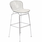 Modway CAD Steel Metal Bar Stool in White MY-EEI-162-WHI