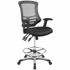 Modway Calibrate Mesh Drafting Chair in Black MY-EEI-3043-BLK