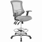 Modway Calibrate Mesh Drafting Chair in Gray MY-EEI-3043-GRY