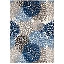 Modway Calithea Vintage Classic Abstract Floral 8x10  Area Rug in Blue, Brown and Beige MY-R-1133A-810