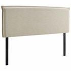 Modway Camille King Upholstered Fabric Headboard in Beige MY-MOD-5408-BEI