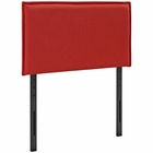 Modway Camille Twin Upholstered Fabric Headboard in Atomic Red MY-MOD-5405-ATO
