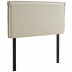 Modway Camille Twin Upholstered Fabric Headboard in Beige MY-MOD-5405-BEI