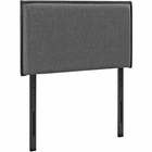 Modway Camille Twin Upholstered Fabric Headboard in Gray MY-MOD-5405-GRY