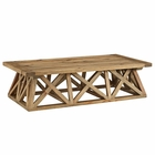 Modway Camp Pine Wood Coffee Table in Brown MY-EEI-2649-BRN