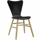 Modway Cascade Wood Dining Chair in Black MY-EEI-2672-BLK