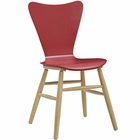 Modway Cascade Wood Dining Chair in Red MY-EEI-2672-RED