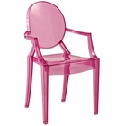 Modway Casper Acrylic Kids Chair in Pink MY-EEI-121K-PNK