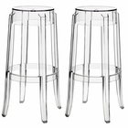 Modway Casper Bar Stools Acrylic Set of 2 in Clear MY-EEI-909-CLR