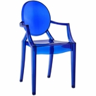 Modway Casper Dining Armchair in Blue MY-EEI-121-BLU
