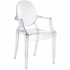 Modway Casper Dining Armchair in Clear MY-EEI-121-CLR