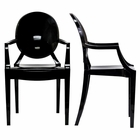 Modway Casper Dining Armchairs Acrylic Set of 2 in Black MY-EEI-905-BLK