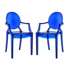 Modway Casper Dining Armchairs Acrylic Set of 2 in Blue MY-EEI-905-BLU