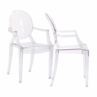 Modway Casper Dining Armchairs Acrylic Set of 2 in Clear MY-EEI-905-CLR