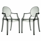 Modway Casper Dining Armchairs Acrylic Set of 2 in Smoke MY-EEI-905-SMK