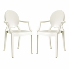 Modway Casper Dining Armchairs Acrylic Set of 2 in White MY-EEI-905-WHI