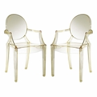 Modway Casper Dining Armchairs Acrylic Set of 2 in Yellow MY-EEI-905-YLW