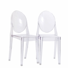 Modway Casper Dining Side Chairs Acrylic Set of 2 in Clear MY-EEI-906-CLR