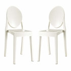 Modway Casper Dining Side Chairs Acrylic Set of 2 in White MY-EEI-906-WHI