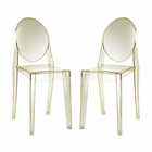 Modway Casper Dining Side Chairs Acrylic Set of 2 in Yellow MY-EEI-906-YLW