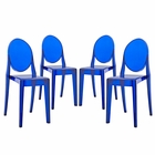 Modway Casper Dining Side Chairs Acrylic Set of 4 in Blue MY-EEI-908-BLU