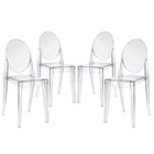 Modway Casper Dining Side Chairs Acrylic Set of 4 in Clear MY-EEI-908-CLR