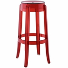 Modway Casper Transparent Bar Stool in Red MY-EEI-170-RED