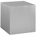 Modway Cast Stainless Steel Side Table in Silver MY-EEI-2097-SLV