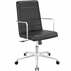 Modway Cavalier Highback Faux Leather Office Chair in Black MY-EEI-2124-BLK