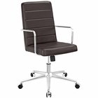 Modway Cavalier Highback Faux Leather Office Chair in Brown MY-EEI-2124-BRN