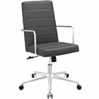 Modway Cavalier Highback Faux Leather Office Chair in Gray MY-EEI-2124-GRY