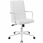 Modway Cavalier Highback Faux Leather Office Chair in White MY-EEI-2124-WHI
