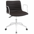 Modway Celerity Faux Leather Office Chair in Brown MY-EEI-1528-BRN