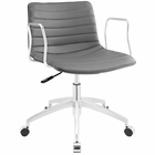 Modway Celerity Faux Leather Office Chair in Gray MY-EEI-1528-GRY