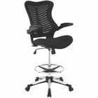 Modway Charge Mesh Drafting Chair in Black MY-EEI-2286-BLK